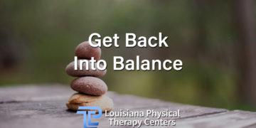 Get Back Into Balance